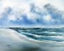 Meereslandschaft Meer im Wind