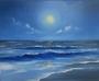 Meereslandschaft mit Mond