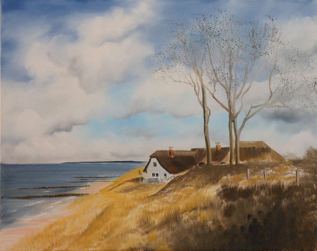 Meereslandschaft Haus an der Düne